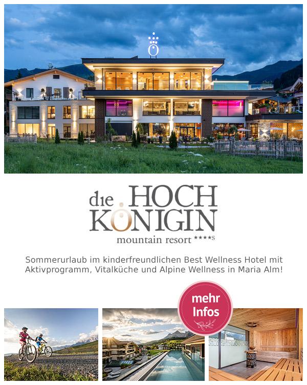 die HOCHKÖNIGIN - Mountain Resort | Bikeurlaub Wellnesshotel Maria Alm Hochkönig